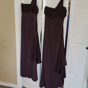 David's Bridal Size 2 and Size 12 Brown Dress